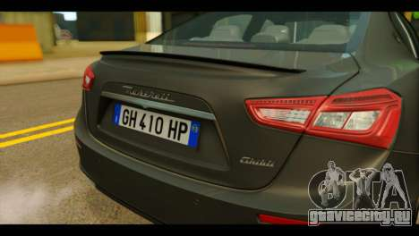 Maserati Ghibli S 2014 v1.0 EU Plate для GTA San Andreas вид сзади