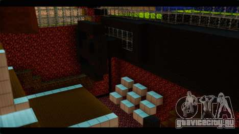 Minecraft Elegant для GTA San Andreas вид справа