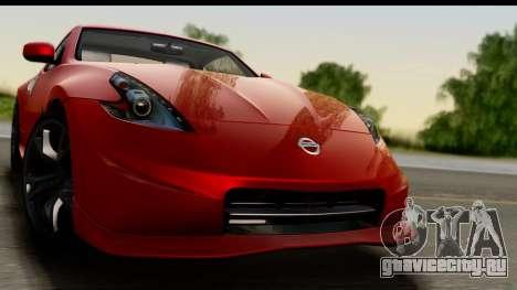 Nissan 370Z Nismo 2010 для GTA San Andreas вид сзади слева