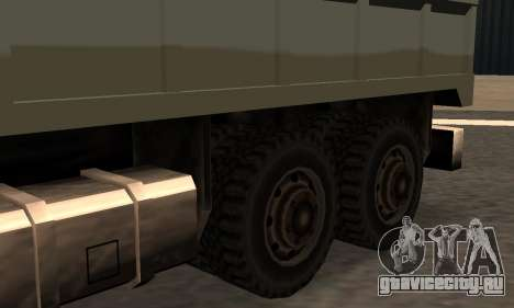 Flatbed Fixed для GTA San Andreas вид слева