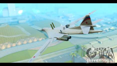 TU-160 Blackjack для GTA San Andreas вид слева