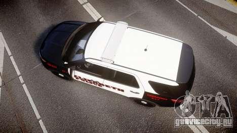 Ford Explorer 2011 Elizabeth Police [ELS] v2 для GTA 4 вид справа