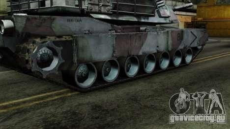 M1A2 Abrams Woodland Blue Camo для GTA San Andreas вид сзади слева