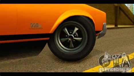 GTA 5 Declasse Sabre GT Turbo IVF для GTA San Andreas вид сзади слева