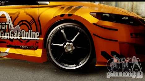 Honda Civic SI Juiced Tuned Shinon Itasha для GTA San Andreas вид сзади