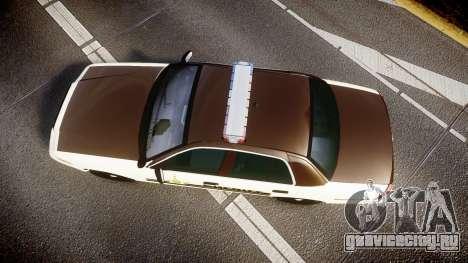 Ford Crown Victoria Liberty Sheriff [ELS] для GTA 4 вид справа