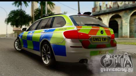BMW 530d Kent Police RPU для GTA San Andreas вид слева
