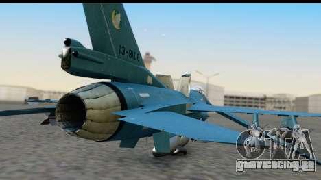 F-2A Viper Blue для GTA San Andreas вид сзади
