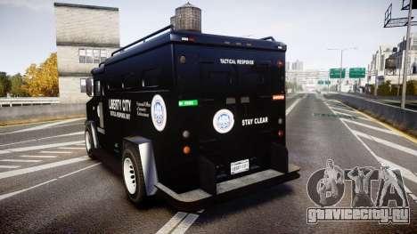 GTA V Brute Police Riot [ELS] skin 2 для GTA 4 вид сзади слева