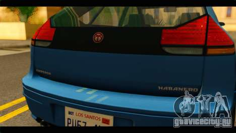 GTA 4 Habanero для GTA San Andreas вид справа