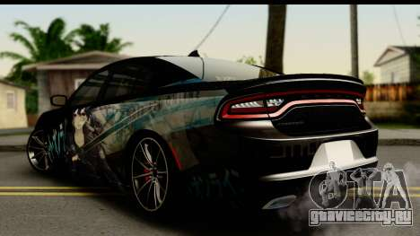 Dodge Charger RT 2015 Sword Art для GTA San Andreas вид слева