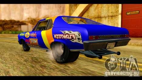 Chevy Nova NOS DRAG для GTA San Andreas вид слева