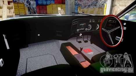 Ford Falcon XB GT351 Coupe 1973 для GTA 4 вид изнутри
