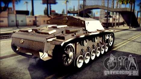 StuG III Ausf. G для GTA San Andreas вид слева