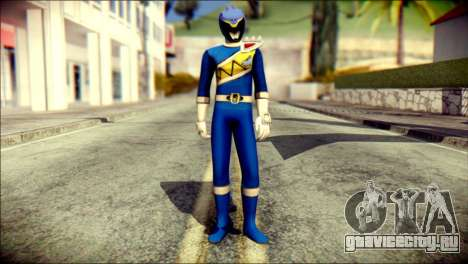 Power Rangers Kyoryu Blue Skin для GTA San Andreas