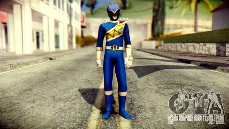 Power Rangers Kyoryu Blue Skin для GTA San Andreas