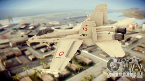 F-18D Swiss Air Force для GTA San Andreas вид слева