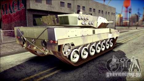 Leopard 2A6 для GTA San Andreas вид слева