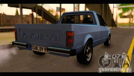 Volkswagen Caddy Mk1 Stock для GTA San Andreas вид слева