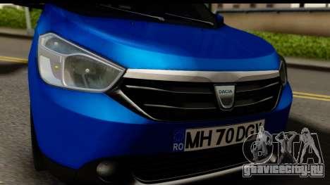 Dacia Lodgy 2014 для GTA San Andreas вид сзади слева