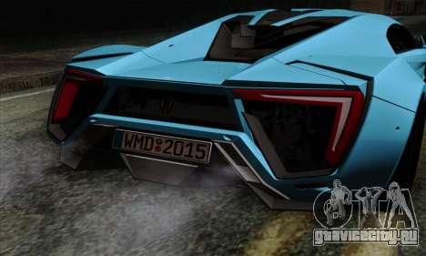 Lykan Hypersport 2014 EU Plate Livery Pack 1 для GTA San Andreas вид сзади