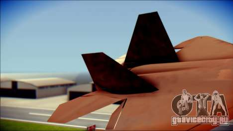 F-22 Raptor G1 Starscream для GTA San Andreas вид сзади слева