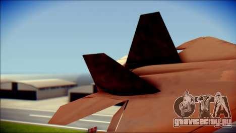 F-22 Raptor G1 Starscream для GTA San Andreas вид сзади слева