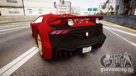 GTA V Pegassi Zentorno для GTA 4 вид сзади слева
