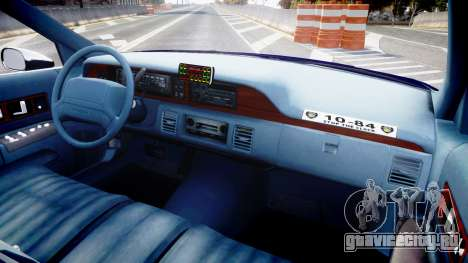 Chevrolet Caprice 1993 LCPD WH Auxiliary [ELS] для GTA 4 вид сзади