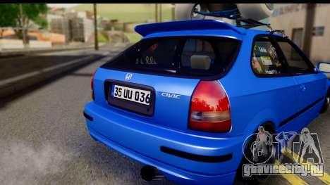 Honda Civic Hatchback для GTA San Andreas вид справа