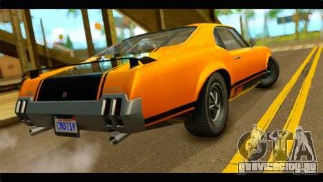 GTA 5 Declasse Sabre GT Turbo IVF для GTA San Andreas вид слева