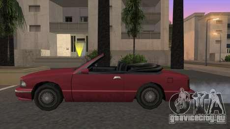 Premier Cabrio для GTA San Andreas вид слева