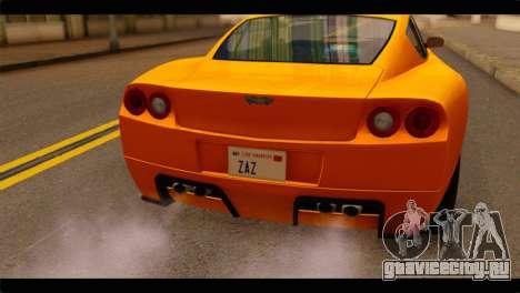 GTA 5 Dewbauchee Super GT для GTA San Andreas вид сзади