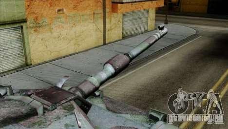M1A2 Abrams Woodland Blue Camo для GTA San Andreas вид справа