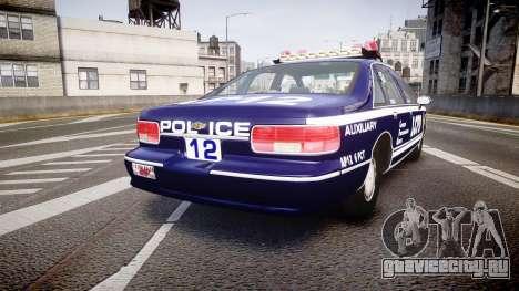 Chevrolet Caprice 1993 LCPD WH Auxiliary [ELS] для GTA 4 вид сзади слева