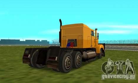 PS2 RoadTrain для GTA San Andreas вид изнутри