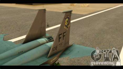 McDonnell Douglas F-15E Strike Eagle для GTA San Andreas вид сзади слева