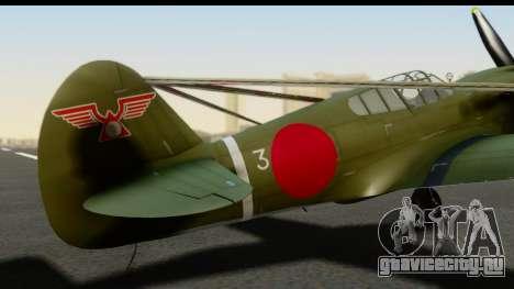 P-40E Kittyhawk IJAAF для GTA San Andreas вид сзади
