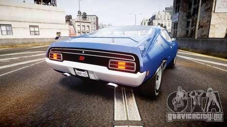 Ford Falcon XB GT351 Coupe 1973 для GTA 4 вид сзади слева
