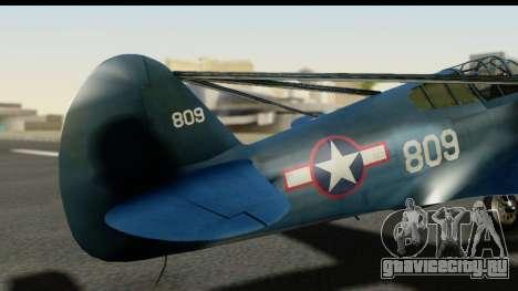 P-40E Kittyhawk US Navy для GTA San Andreas вид сзади