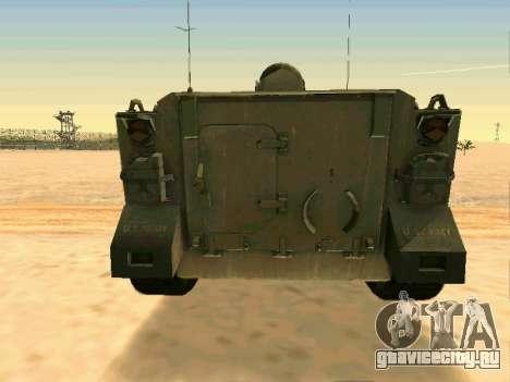 Бронетранспортёр M113 для GTA San Andreas вид сзади