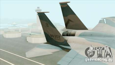 McDonnell Douglas F-15D Philippine Air Force для GTA San Andreas вид сзади слева