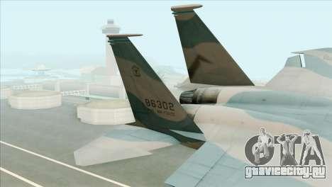 McDonnell Douglas F-15D Philippine Air Force для GTA San Andreas вид сзади слева