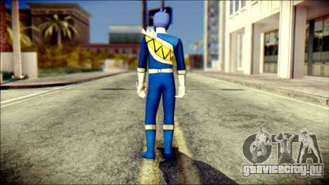 Power Rangers Kyoryu Blue Skin для GTA San Andreas второй скриншот