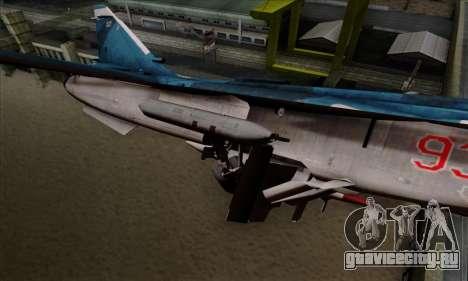 SU-24MP Fencer Blue Sea Camo для GTA San Andreas вид справа