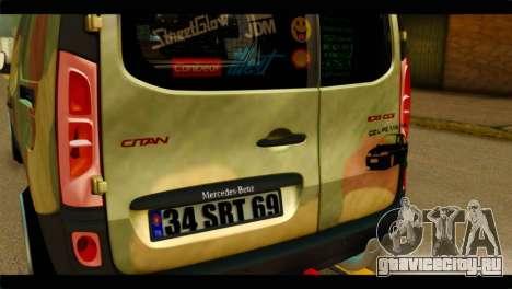 Mercedes-Benz Citan Stance для GTA San Andreas вид сзади