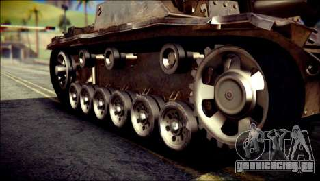 StuG III Ausf. G для GTA San Andreas вид справа