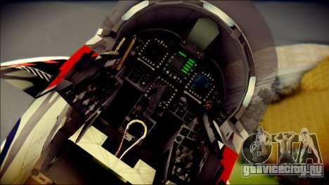 FA-18D Hornet RCAF Tigermeet для GTA San Andreas вид сзади