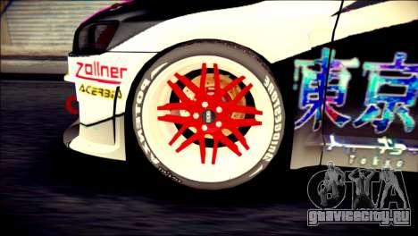Mitsubishi Lancer Evolution X Juuzo Itasha для GTA San Andreas вид сзади слева