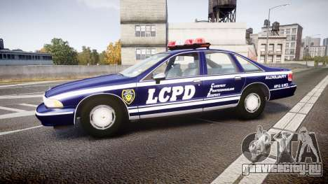 Chevrolet Caprice 1993 LCPD WH Auxiliary [ELS] для GTA 4 вид слева